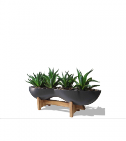 canoe-planter-with-stand-FosterPlants